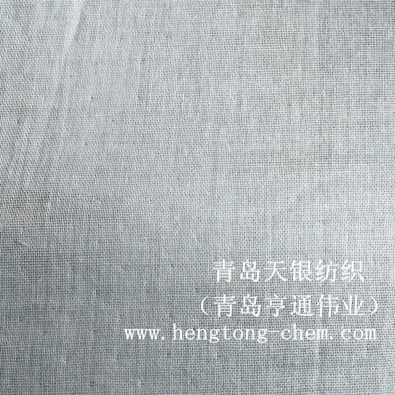 青岛天银纺织厂家直销银短纤和棉混纺梭织汗布抗菌棉料