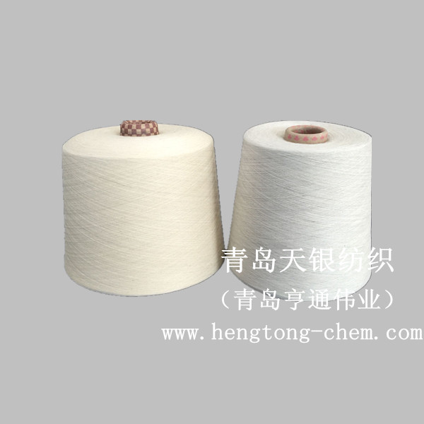 Qingdao Tianyin textile factory directly sells 32 / 40 silver fiber blended cotton